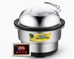 蒸汽火锅是专为海鲜食材准备的形容词
