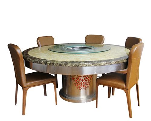 广西升降蒸汽火锅餐桌